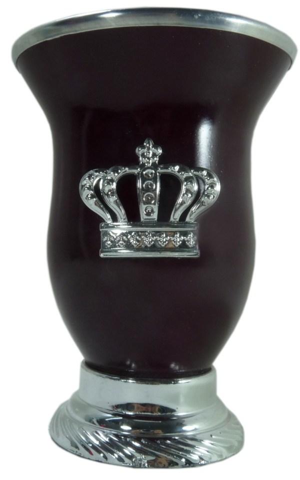 Mate calabaza color marrón con corona por mayor