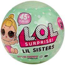Bola lol surprise verde Lil sisters 5 capas serie 2