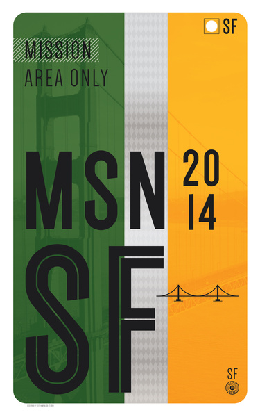 mission muni fast pass poster