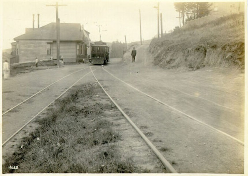 Market_Street_Extension,_original_condition_at_switchback,_Mono_and_Caselli_1921_AAB-6185