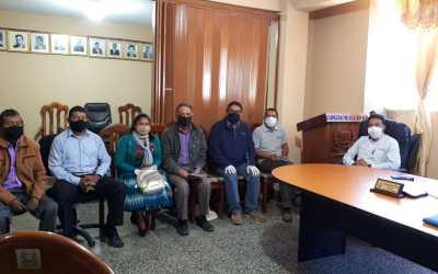 Acercamiento con autoridades municipales y comunitarias para  evaluar  condiciones para retomar actividades de los proyectos en el Municipio de San Antonio Sacatepéquez.