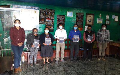 MUNI-K´AT imparte talleres sobre Cambio climático en las comunidades de San Antonio Sacatepéquez, San Marcos.