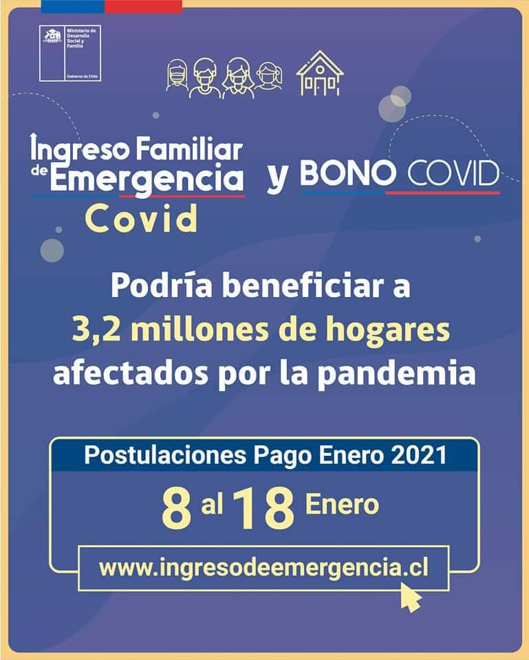 Postula al Ingreso Familiar de Emergencia y Bono Covid