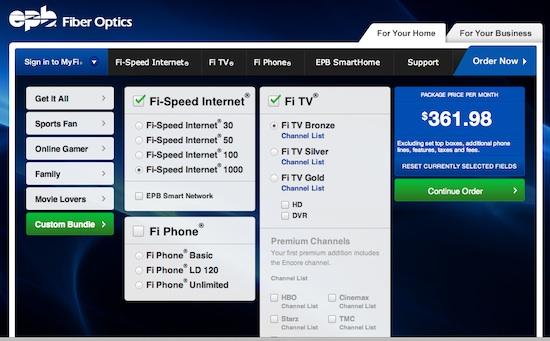 1 gigabit internet access chattanooga