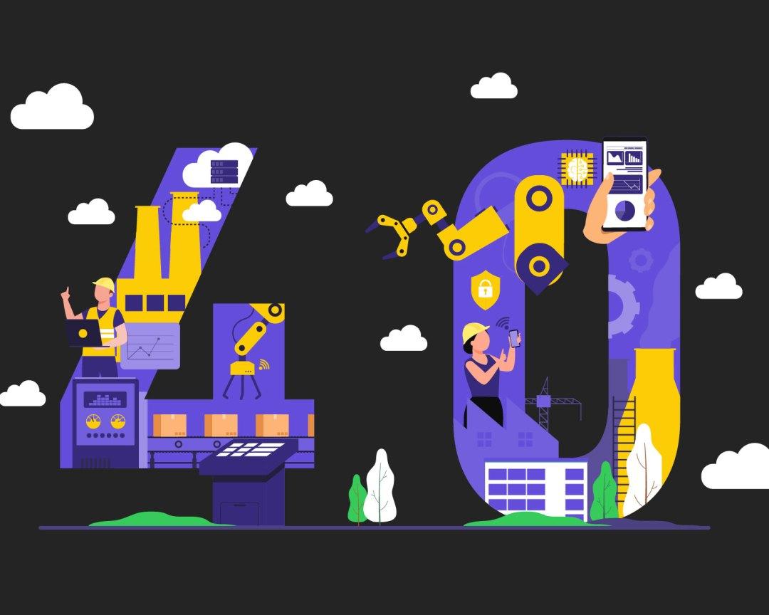 Gráfico que ilustra la industria 4.0