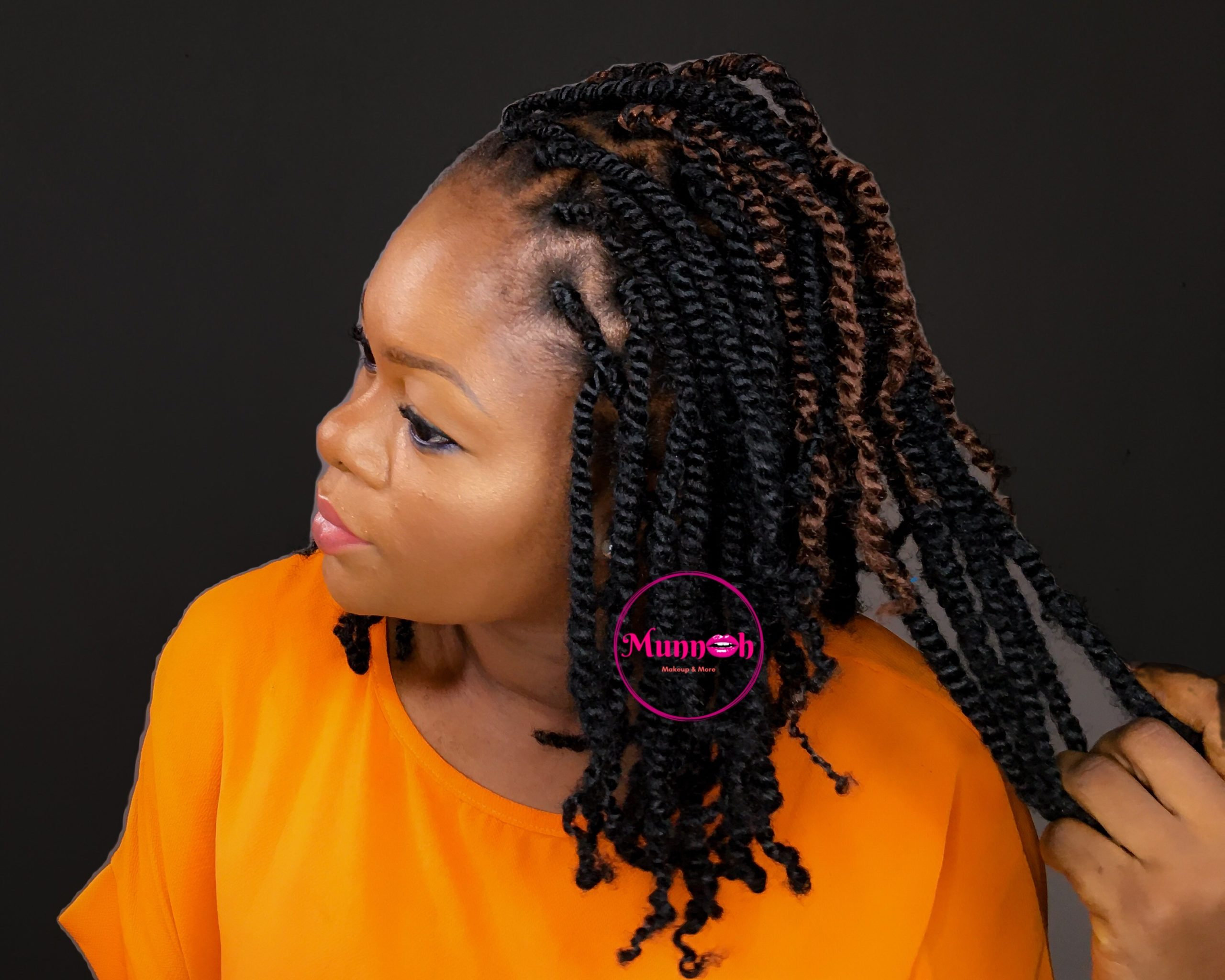 DIY Spring Twist / Passion Twist Braids Using Rubber Band Method