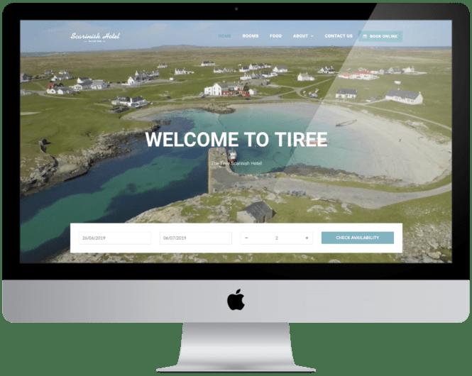 Website Design Tiree Scarinish Hotel