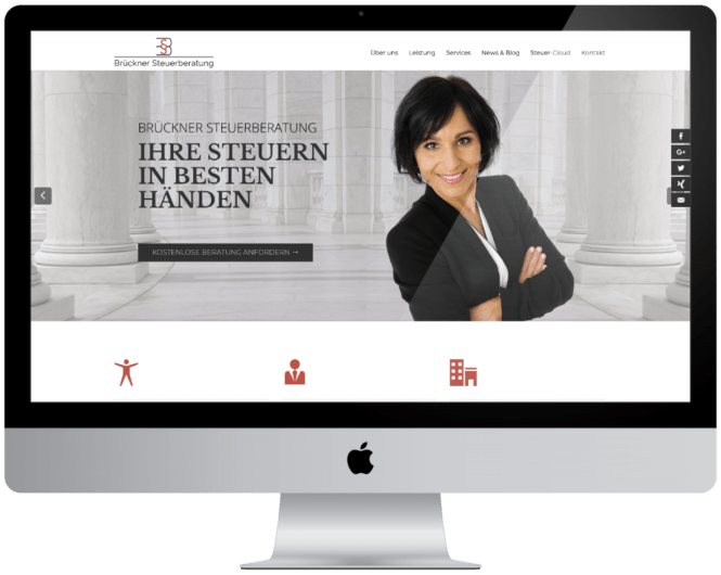 Wordpress Web Development Brueckner Steuerberatung