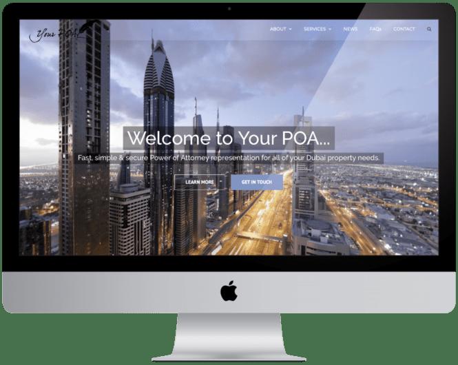 Wordpress Website Design and Build Your POA Dubai