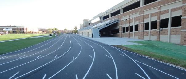 Running track construction, paving
