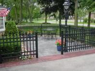 residential fence, milwaukee, iron fences
