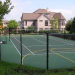 Milwaukee tennis court construction, milwaukee, tennis court, basketball court,