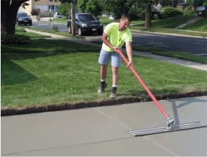 Driveway construction, Concrete, Milwaukee