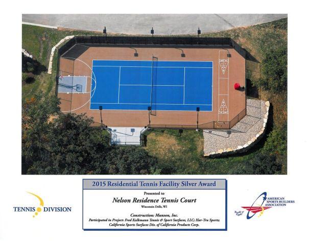 Nelson Residence Tennis Court , Tennis Court Construction, Milwaukee