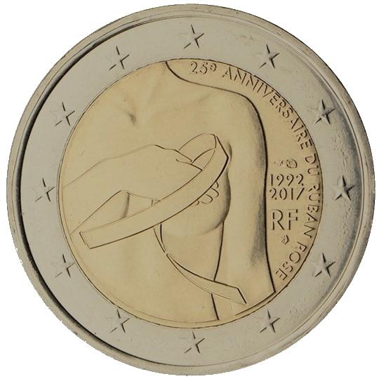 Herdenkingsmunt van 2 euro Pink ribbon