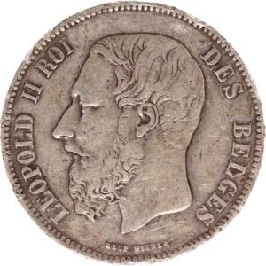 5 Frank in sterling zilver van Leopold II van België