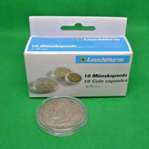 10 capsules voor alle 5 franken munten van de latijnse unie