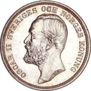 2 zweedse kronen Oscar II