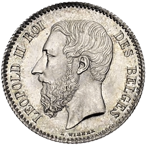 Léopold II 1 frank