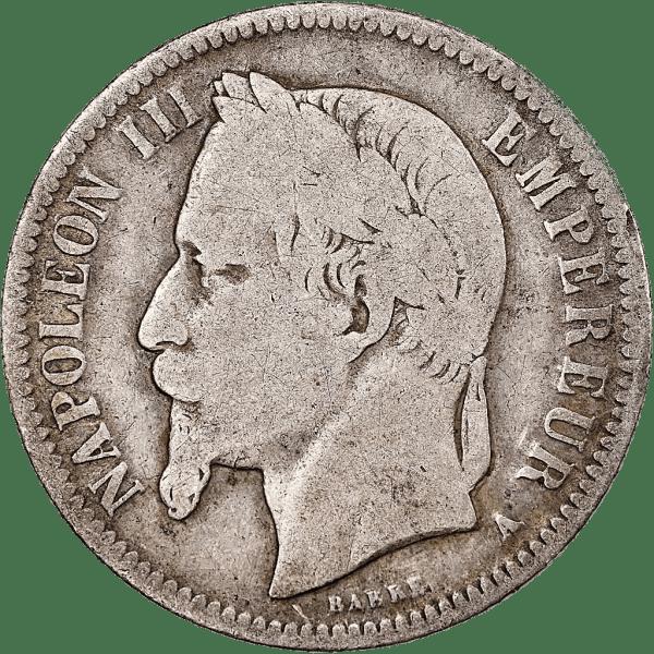 Napoléon III 1 FRANK IN ZILVER