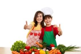 Kinder die gesund essen