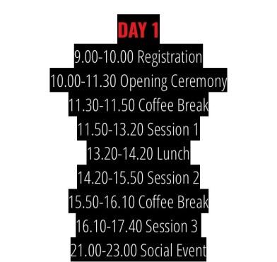 AlphaMUN Schedule Day 1