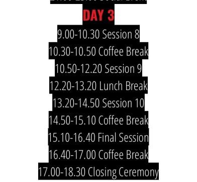 AlphaMUN Schedule Day 3