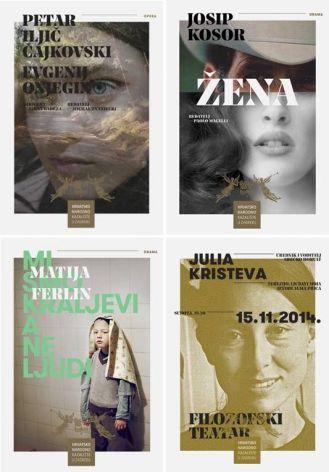 Serija plakata i tiskanih materijala za HNK u Zagrebu u sezonama 20141516, Lana Cavar