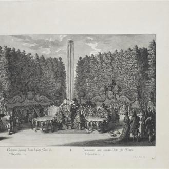 Arhitektura i performans_ Jean Le Pautre, Zakuska priređena u Malom parku Versaillesa 1678