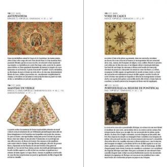 Veziva iz kataloga zbirke Le trésor brodé de la cathédrale du Puy en Velay : Chefs-d'œuvre de la collection Cougard-Fruman.