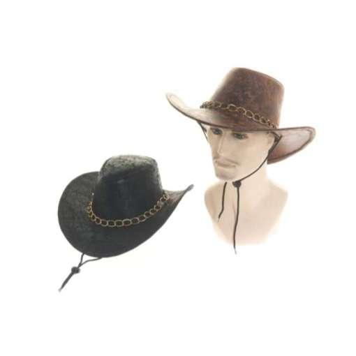 Hattu Cowboy lännenhattu musta tai ruskea
