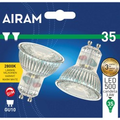 Led lamppu Gu10 3,8 W 2 kpl, 500 Candela