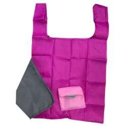Kassi ostoskassi 34 x 36 cm pinkki tai harmaa