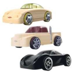 Automoblox puinen auto 3 kpl