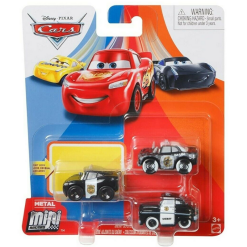 Cars Mini Racer auto 3 kpl Sheriff Deputies Series