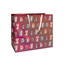 Lahjakassi 50 x 25 x 45 cm metsäneläimet punainen