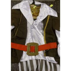 Lasten naamiaisasu Merirosvo ruskea/valkoinen
