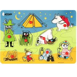 Nuppipalapeli Muumi telttaretki