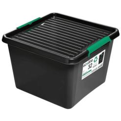 Säilytyslaatikko kannella 32 L Ecoline