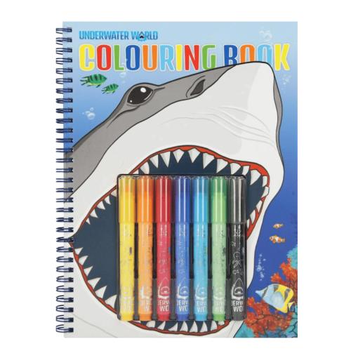 Värityskirja & tussit Underwater hai