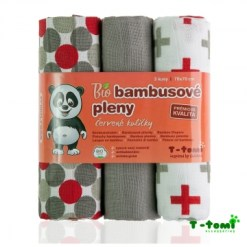 Harsovaipat 3 kpl bambu punaharmaa
