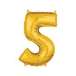 Folionumeropallo 5 kultainen 66 cm