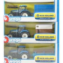 Traktori ja peräkärry New Holland erilaisia