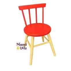 Lasten tuoli, puinen punainen