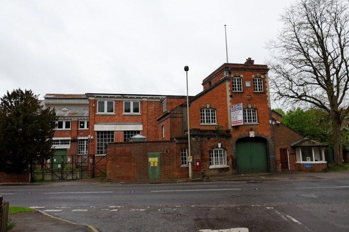 Front view of Laverstoke Mill from the Basingstoke road