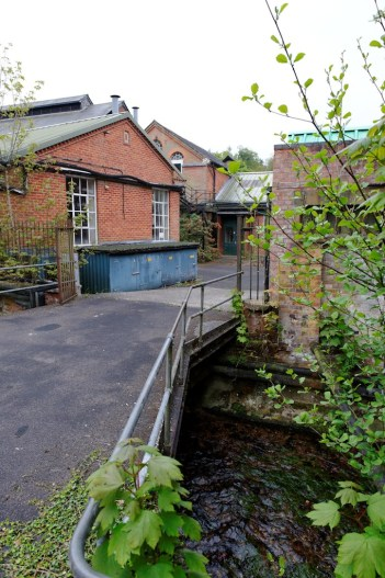 A one lane bridge leads into the loading yard at Laverstoke Mill