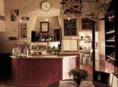 The bar at campsite Les Voisins near Montaigu le Blin