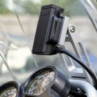 Garmin Zumo 660 bracket with Migsel billet mount