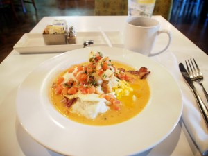 Shrimp and Grits - breakfast soup at Eat, downtown Las Vegas