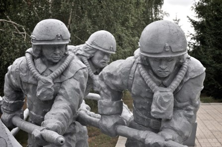 Detail image from Chornobyl fire brigade monument